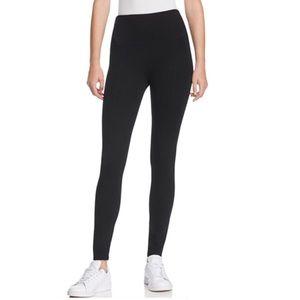 Lysse Center Seam Ponte Black Leggings Size M